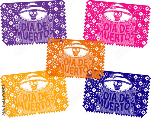 Quot Papel Picado D 237 A De Muertos Quot Stock Image And Royalty Free