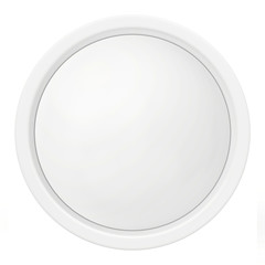 white round icon in the form of buttons