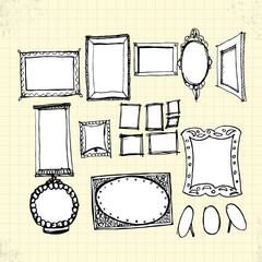 Doodle Ornaments Photo Frames