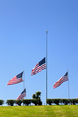 Coffin Flags at Half Mast