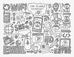 doodle internet web background