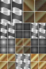 Set of metal texture