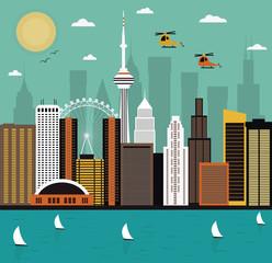 Obraz premium Współczesne życie miasta. Wektor