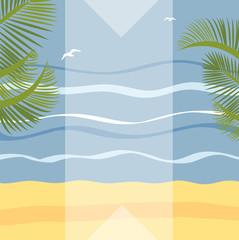 Summer holidays illustration framework