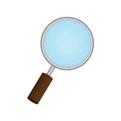 Magnifying Glass on white background. Eps 10