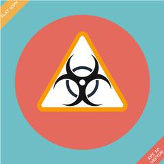 Warning symbol biohazard - vector illustration