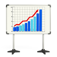 Business graph illustration