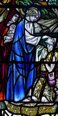 Healing the blind: wonder of Jesus in stained glass