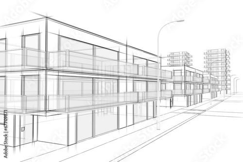 Architektur zeichnung stockfotos und lizenzfreie bilder for Modernes haus zeichnung