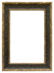 Eleganter schwarzer Bilderrahmen mit Goldrand im Hochformat