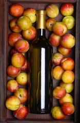 White wine and plums