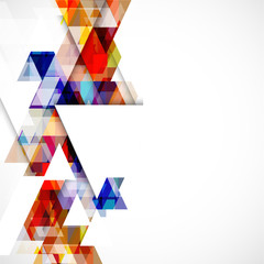 Modern colorful geometric abstract template on white background