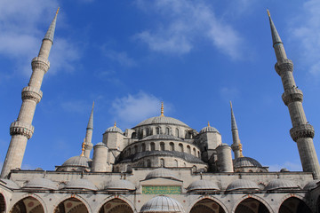 beautiful mosque of white stone Blue Mosque