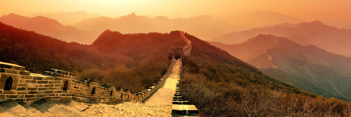 Fotobehang Chinese Muur Great Wall morning
