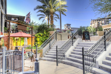 Downtown Scottsdale Arizona in the Waterfront District