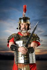 Roman Centurion Holding Sword