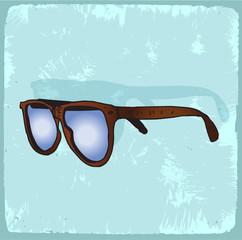 Cartoon glasses illustration