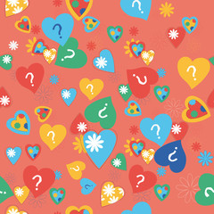 vector seamless background with hearts