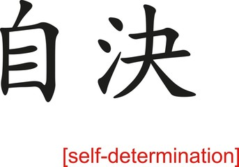 Chinese Sign for self-determination