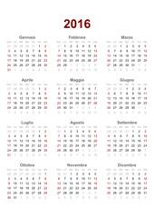 italian calendar 2016