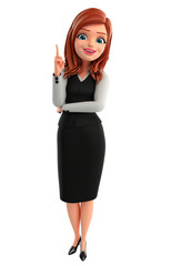 Young Business Woman with pointing pose