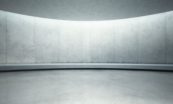 empty concrete open space interior with sunlight