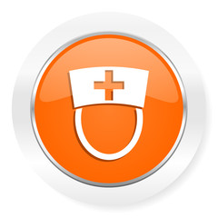 nurse orange computer icon