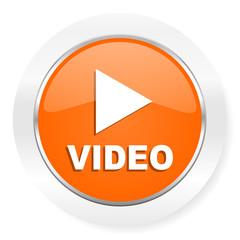 video orange computer icon