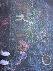 crayon art on the street
