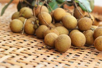Longan fruit in the basket