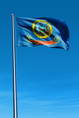 Idaho (USA) flag waving on the wind