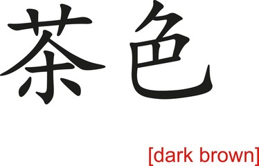 Chinese Sign for dark brown
