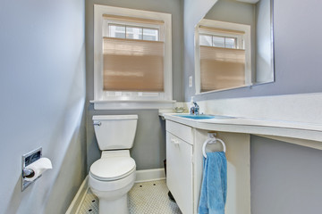 Small bathroom interior in old house