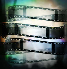 colorful film roll background and texture
