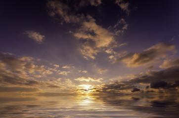 juicy sunset sky