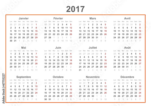 "2017 french calendar"" Stock image and royalty-free vector files on ..."
