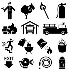 Fire safety icons