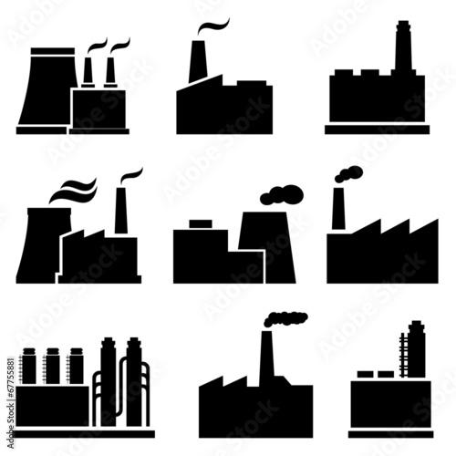 Factory and industrial buildings fichier vectoriel libre de droits sur la banque d 39 images - Fotomurales pixel ...