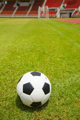 Soccer ball set for shoot