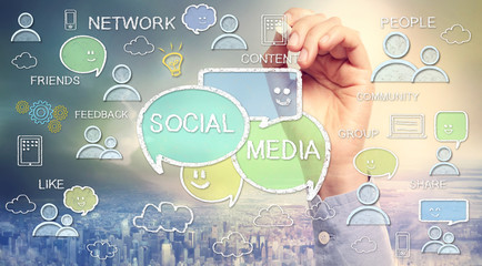 Social media texts and cartoon