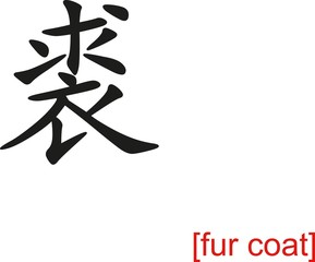 Chinese Sign for fur coat