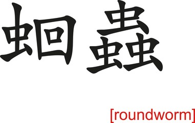 Chinese Sign for roundworm