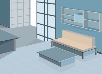 Blue living room scene,interior background