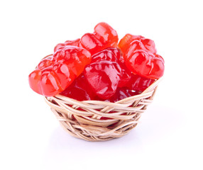Bright Red Jelly Candies