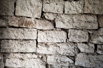 fragment of ancient masonry walls