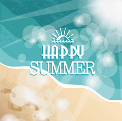 Background with Happy summer