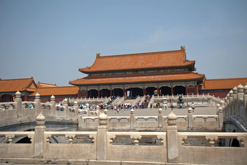 Gate of Supreme Harmony in the Forbidden City, Beijing, China