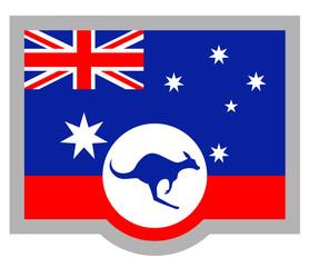 Kangaroo Australia flag