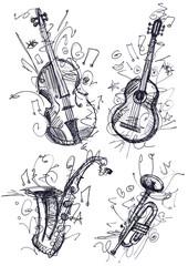 Fototapete - Musical