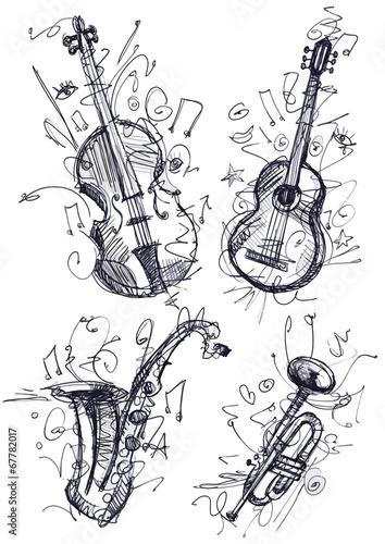 Fototapete Musical